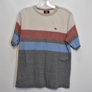Boys Quicksilver Color Block T-shirt L (16/18)